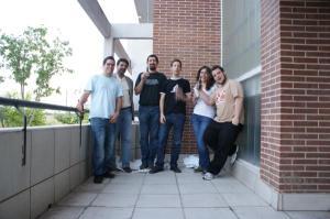 Foto de los miembros fundadores de la Iglesia Pastafari en España