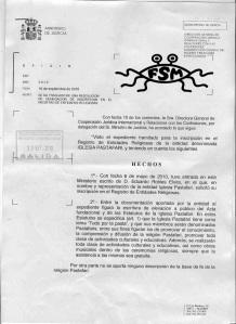 Rechazo Inscripción Iglesia Pastafari (nombres borrados) 1/4